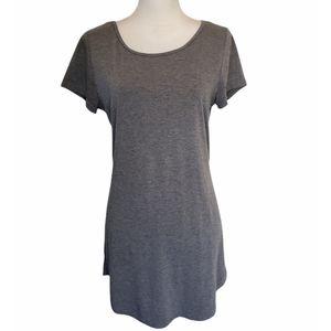Showpo Grey Scoop Neck T-Shirt Mini Dress